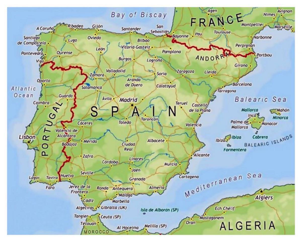 Oblasti Spanelska Mapa Mala Mapa Spanelsko Jizni Evropa Evropa